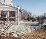 house with deck installed