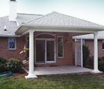 custom porch installed over entrance to house