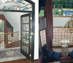 wood balcony railings