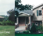 before and after home remodeling project