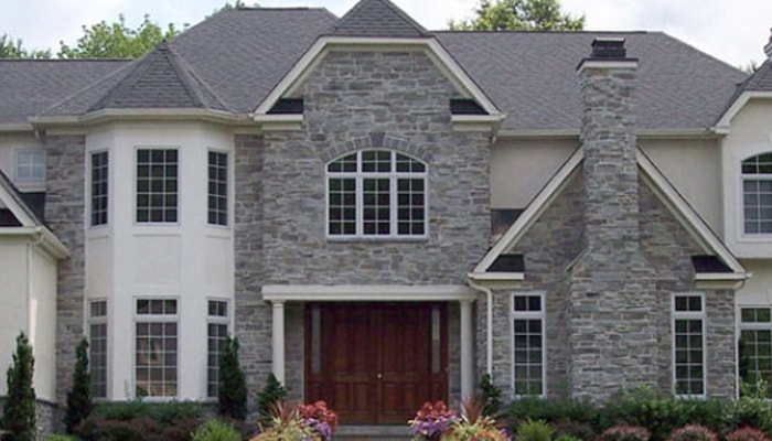 two story stone house